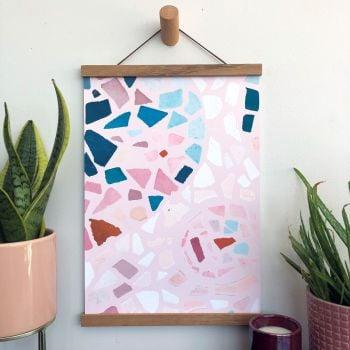 'Blush Mosaic' Art Print