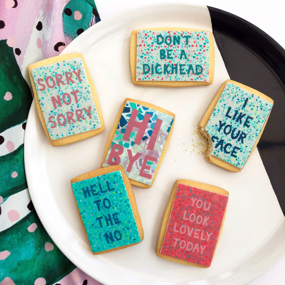 Set of 6 Quote Cookies