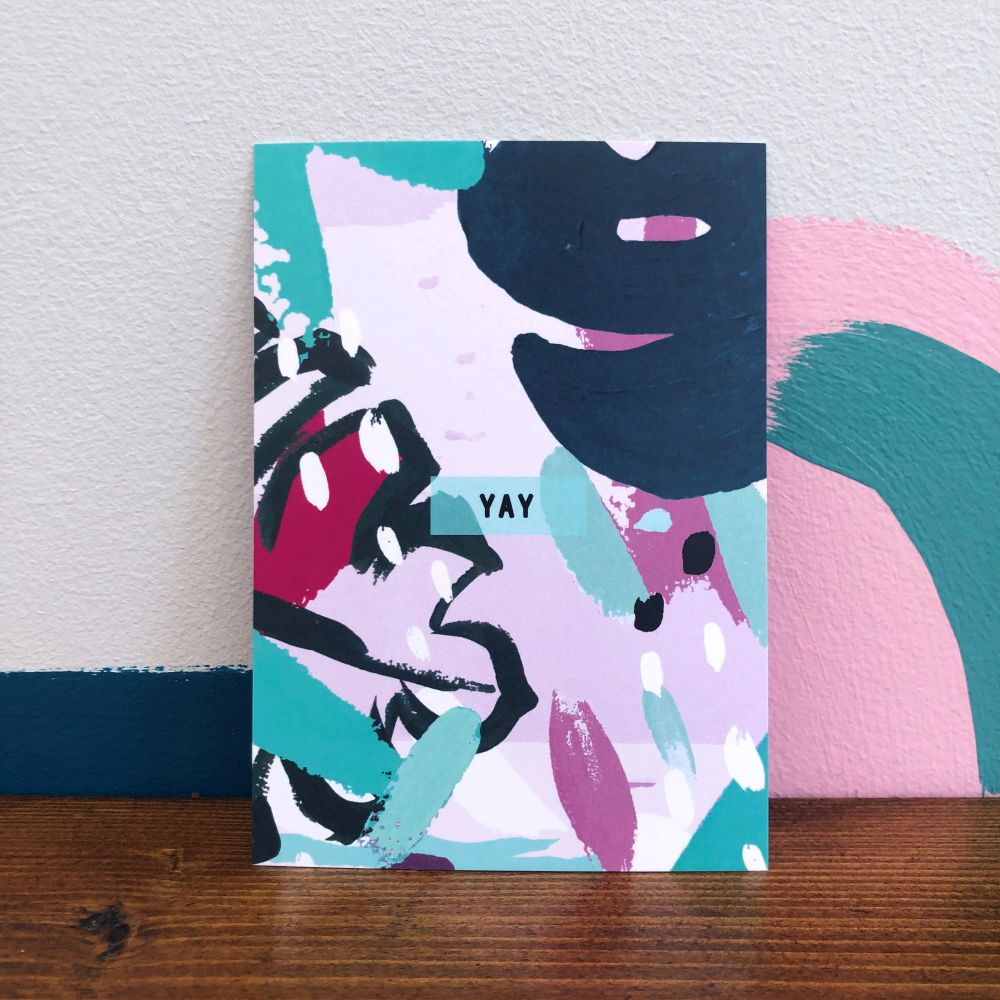 'Yay' Postcard