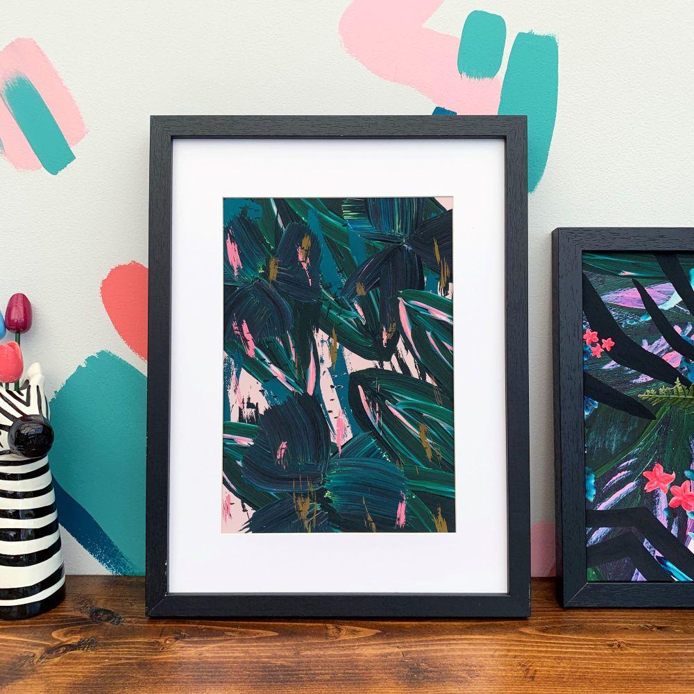 'Rainforest Leaves' Print
