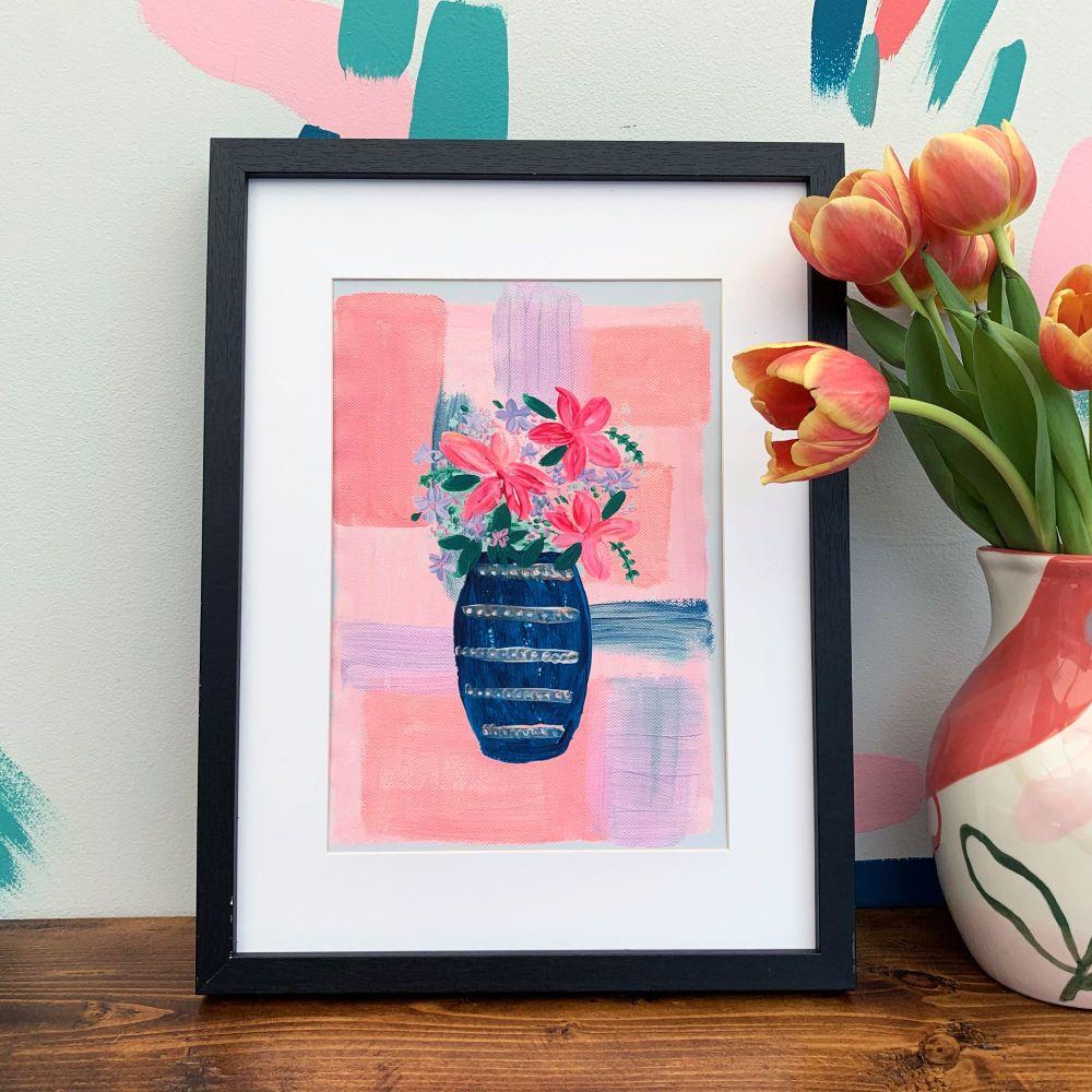 'Colourblock Vase' Print
