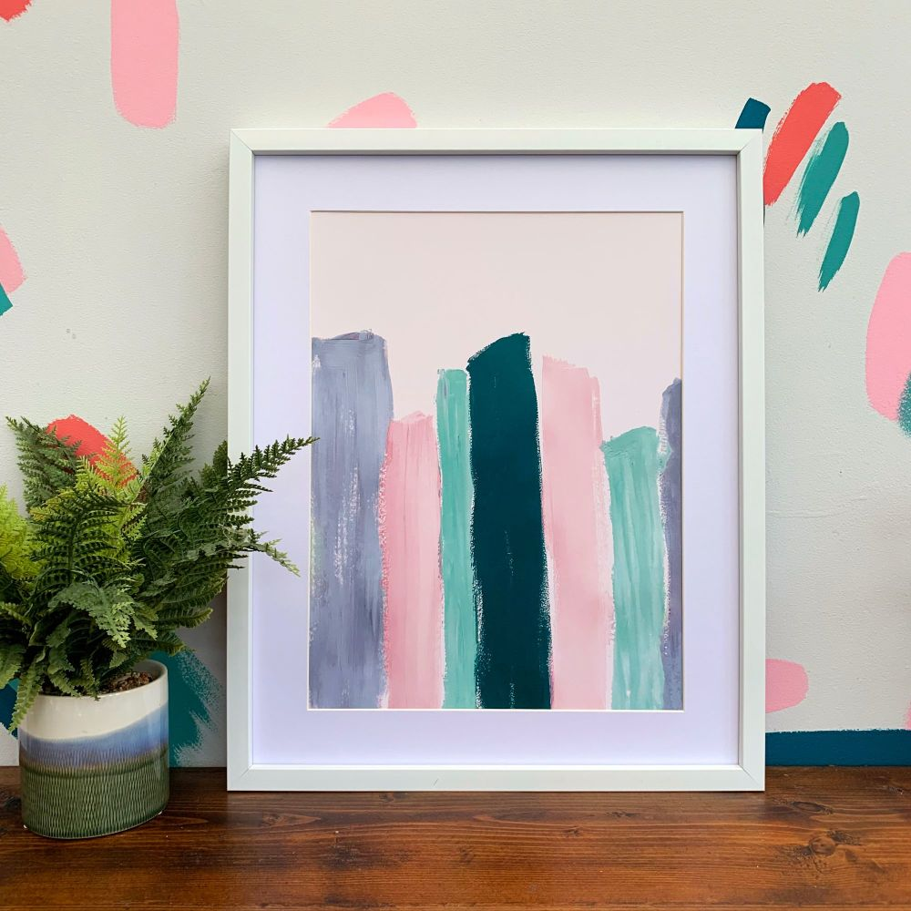 'Pastel Burano' Abstract Print