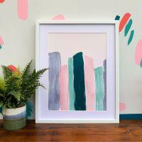 'Pastel Burano' Abstract Print