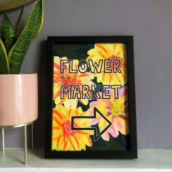 Flower Market Print - Yellow