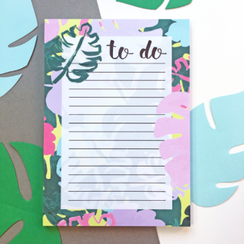 A5 Monstera Leaf Notepad