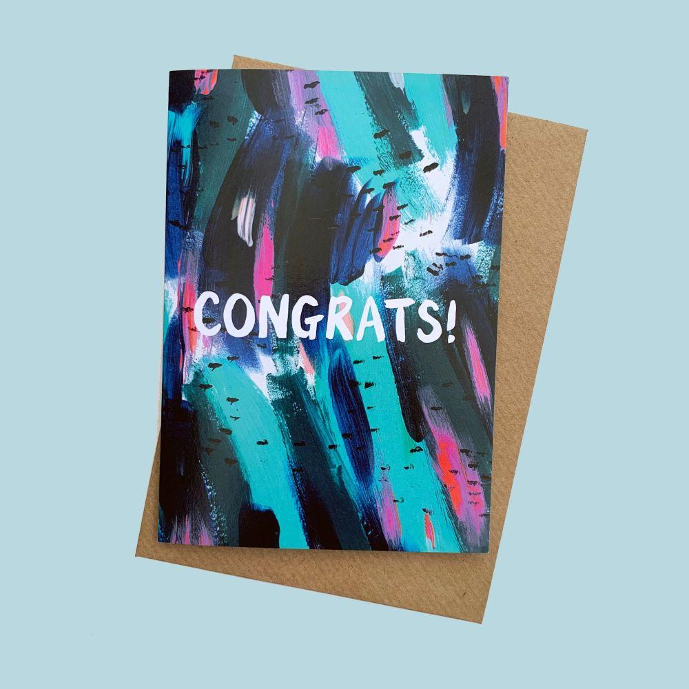 'Congrats' Greetings Card
