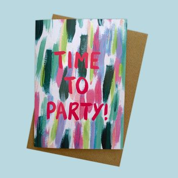 'Time to Party' Greetings Card