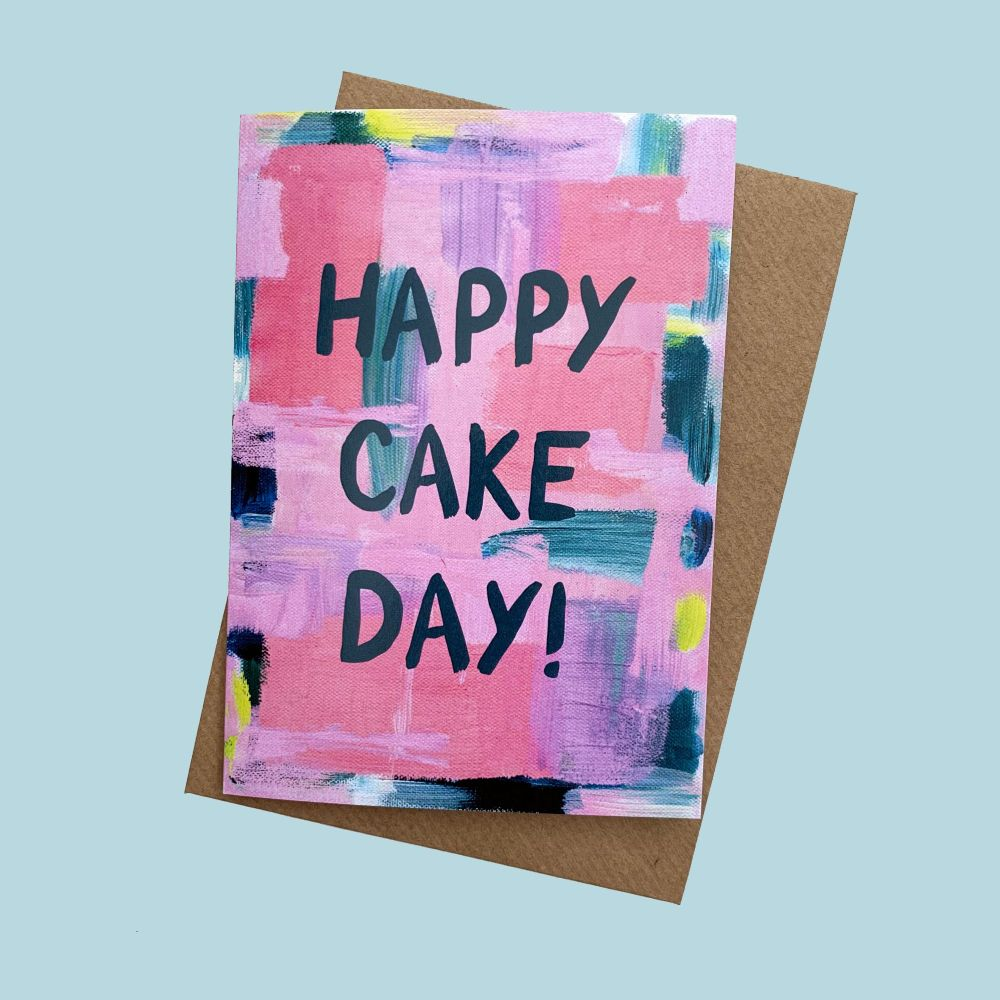 'Happy Cake Day' Greetings Card