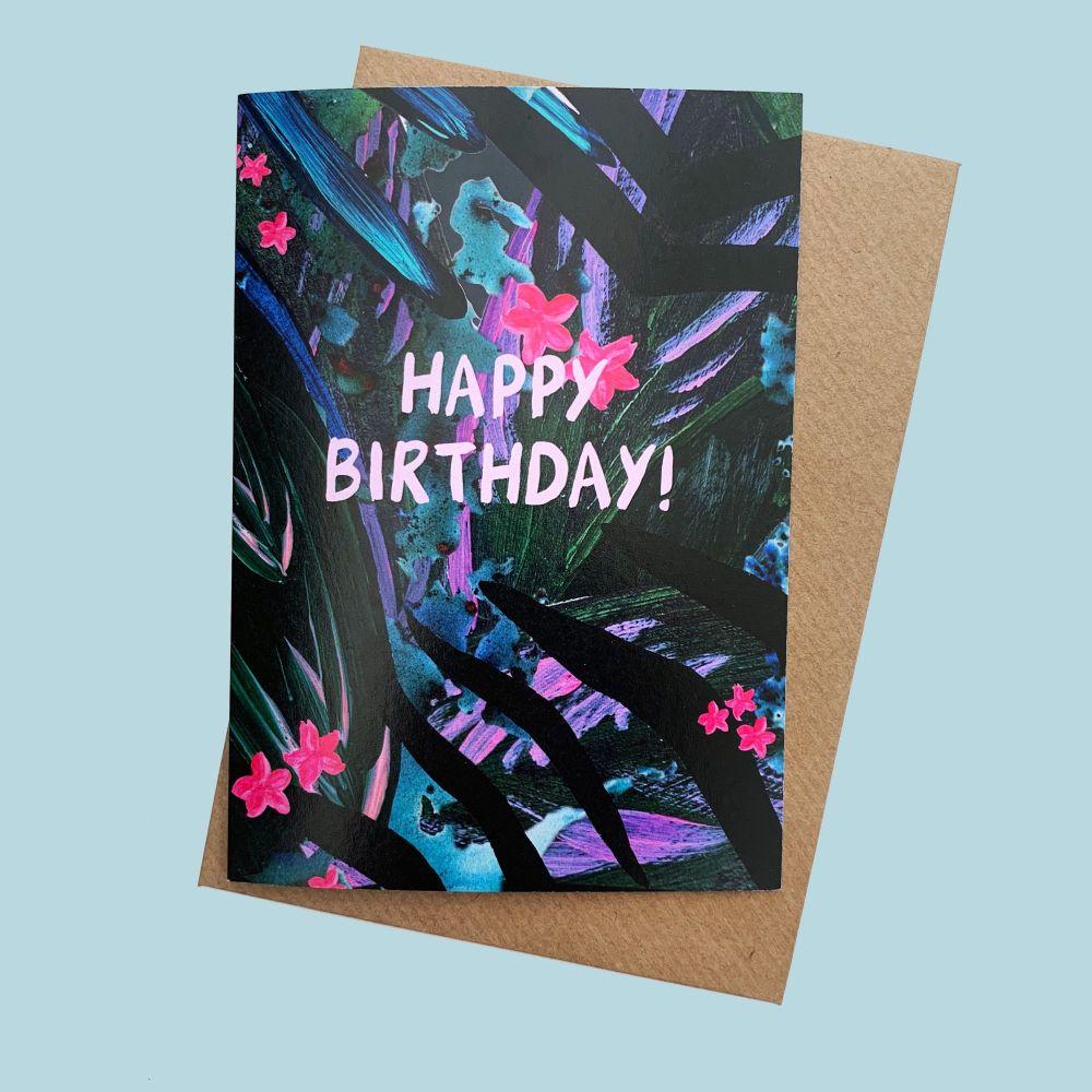 Tropical 'Happy Birthday' Card