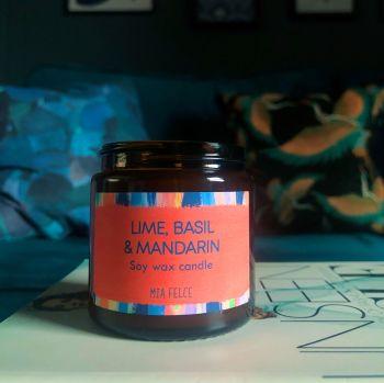 Lime, Basil and Mandarin Candle