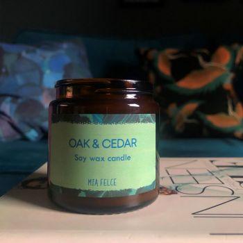Oak and Cedar Candle