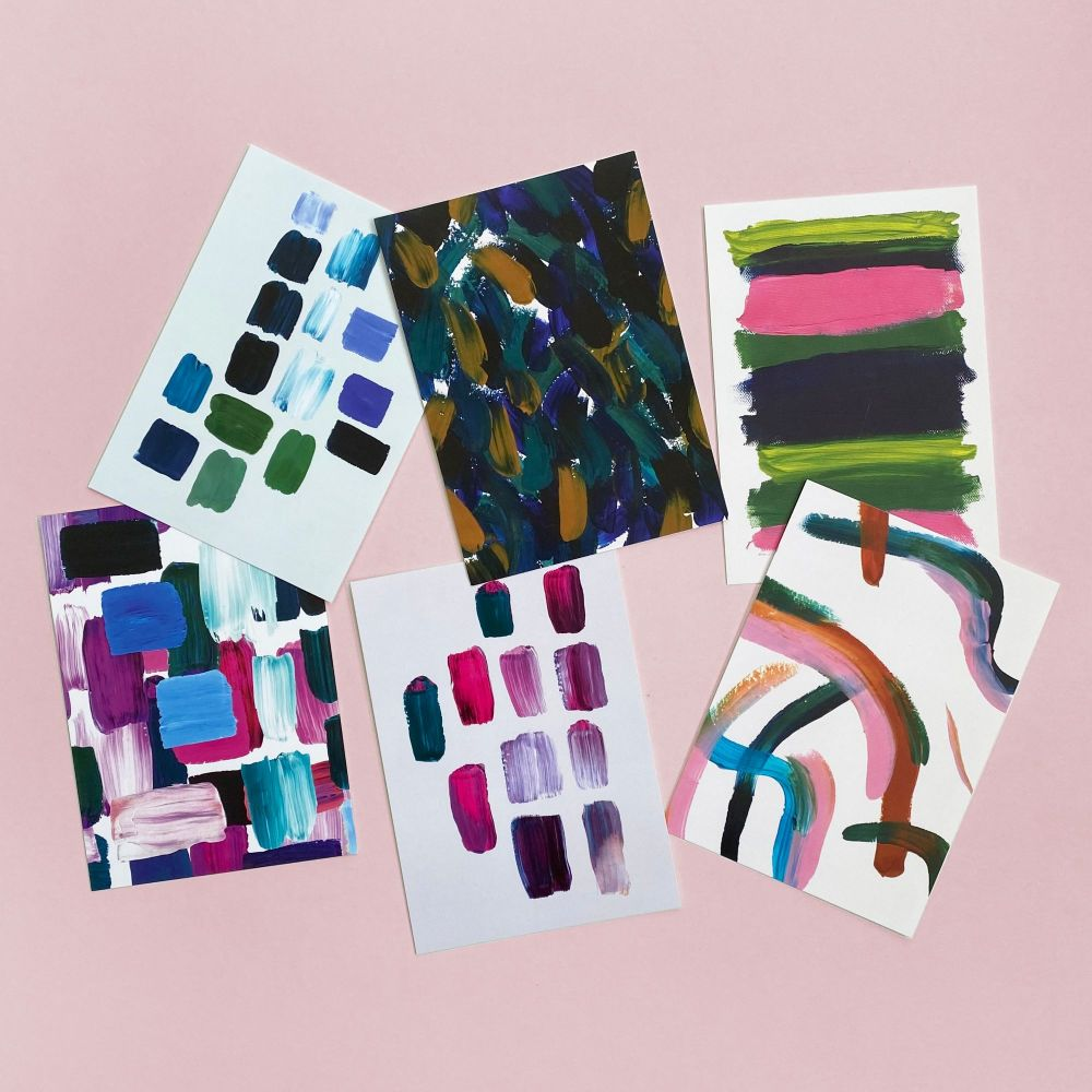 6 Pack of Postcards - Painterly