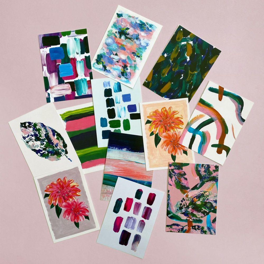 12 Pack of Art Postcards