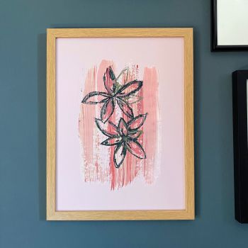 'Abstract Waterlily Pink' Print