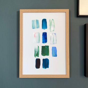 'Blue Paint Study #1' Print