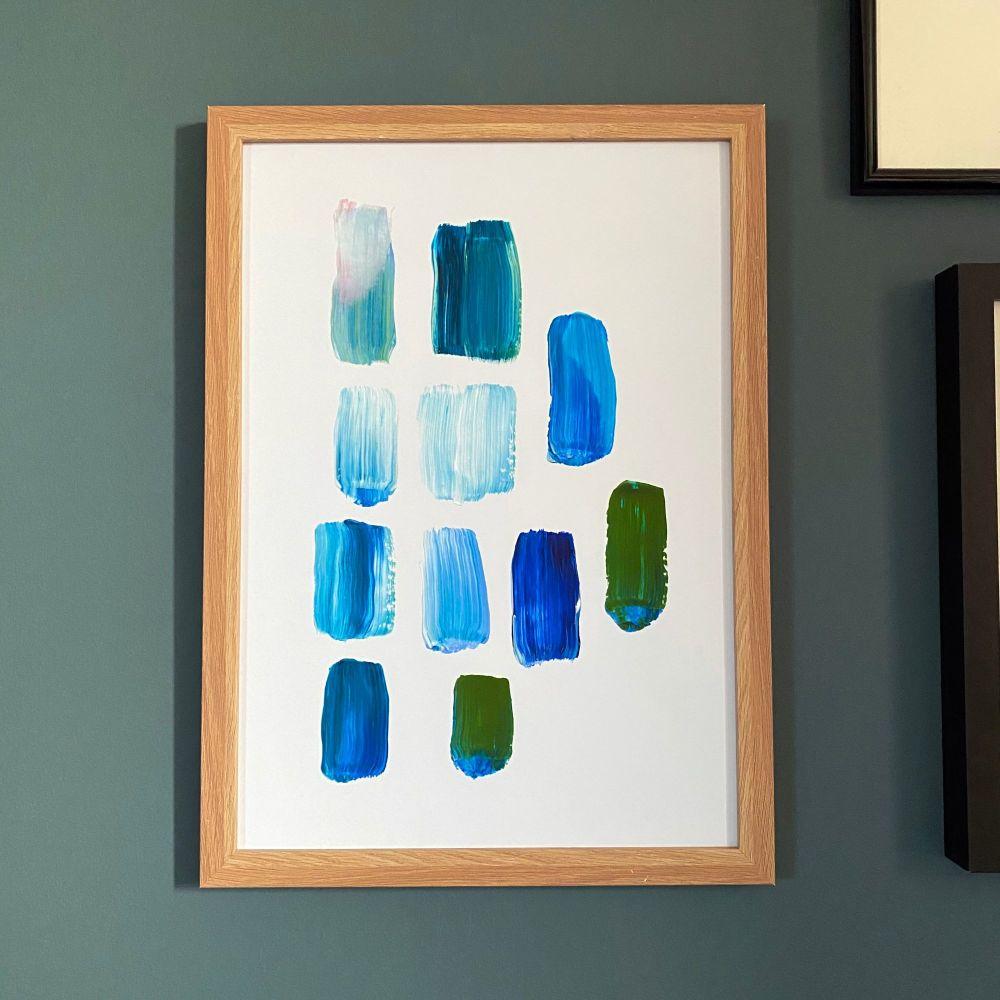 'Blue Paint Study #2' Print