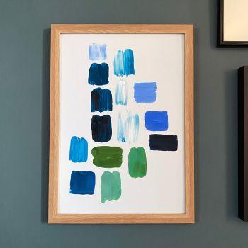 'Blue Paint Study #3' Print