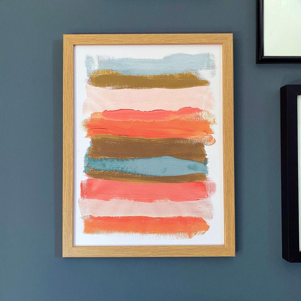 'Paint Stripes #1' Print