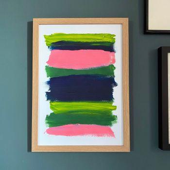 'Paint Stripes #2' Print