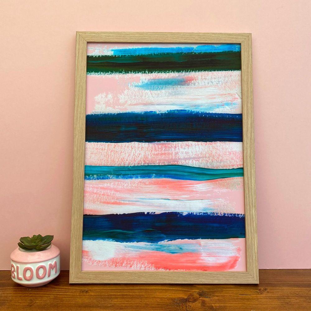 'Sunset Boulevard' Stripe Print