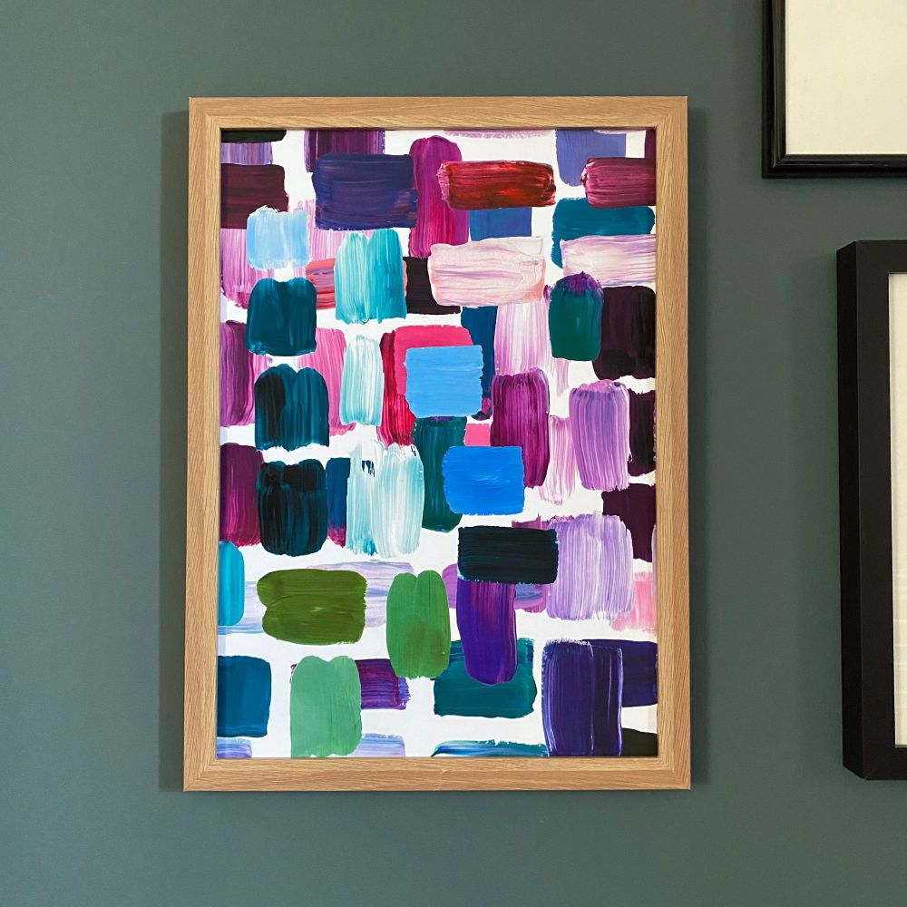 'Rainbow Paint Swatch' Print