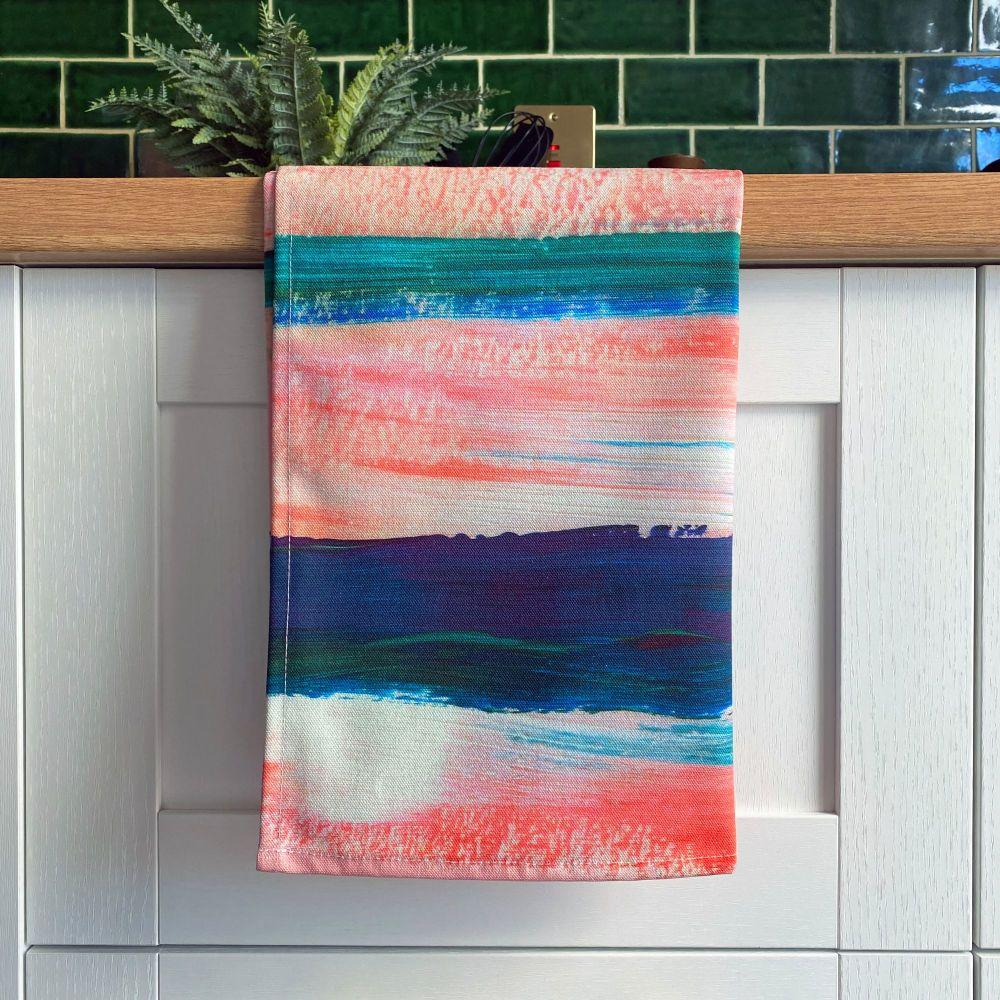 'Sunset Boulevard' Print Tea Towel