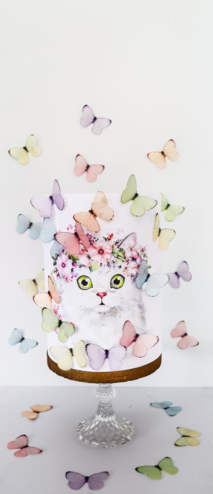 Crystal Candy Edible Wafer Butterflies -  Pastel Dream Butterflies