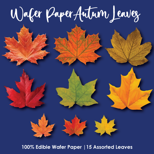 Crystal Candy Edible Wafer Collection - Autumn Leaves