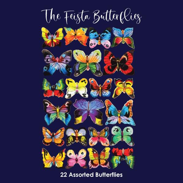 Crystal Candy Edible Wafer Butterflies -  Fiesta Butterflies