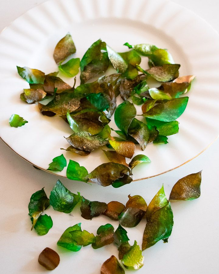 Crystal Candy Edible Rose Petals - Sweet Rose Leaves No.11.
