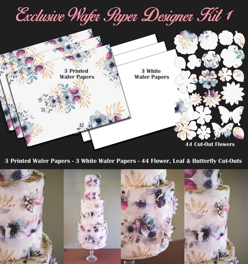 Crystal Candy Edible Wafer Collection - Exclusive Wafer Paper Designer Kit 1