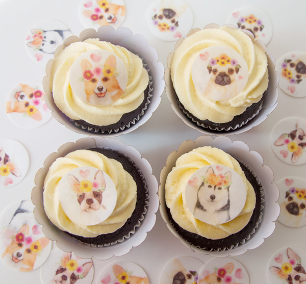 Crystal Candy Cupcake Collars & Toppers - Wafer Paper