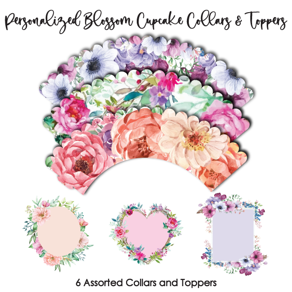 Crystal Candy Cupcake Collars & Toppers - Blooms to Personalise