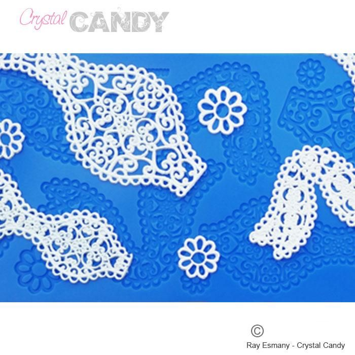 Crystal Candy Silicon Lace Moulds - Gold -  Boutique Bow