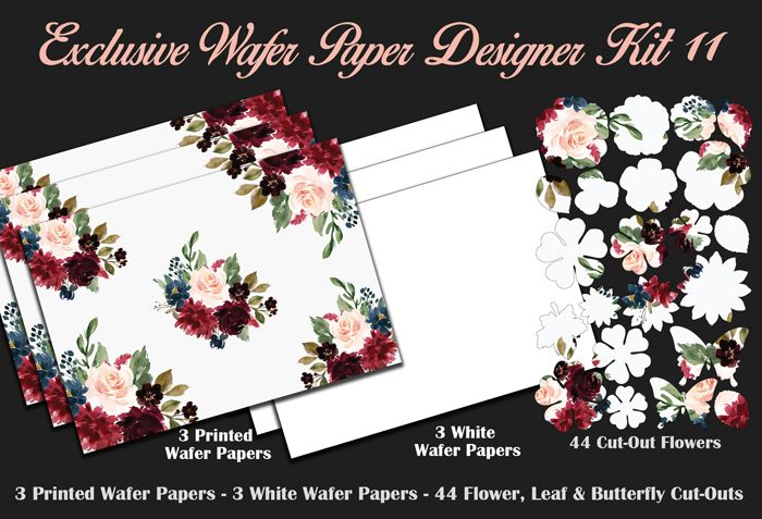 Crystal Candy Edible Wafer Collection - Exclusive Wafer Paper Designer Kit 11