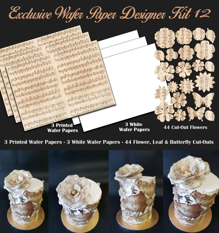 Crystal Candy Edible Wafer Collection - Exclusive Wafer Paper Designer Kit 12