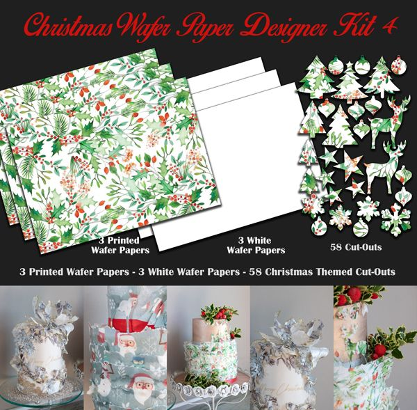 Crystal Candy Edible Wafer Collection - Christmas Wafer Paper Designer Kit 4