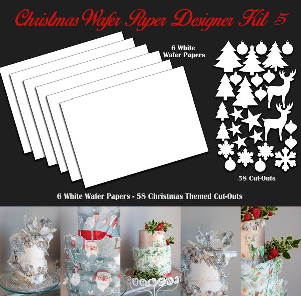 Crystal Candy Edible Wafer Collection - Christmas Wafer Paper Designer Kit 5