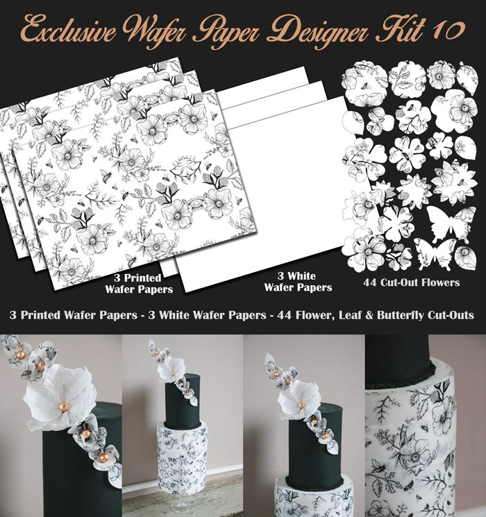 Crystal Candy Edible Wafer Collection - Exclusive Wafer Paper Designer Kit 10