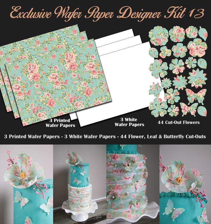 Crystal Candy Edible Wafer Collection - Exclusive Wafer Paper Designer Kit 13