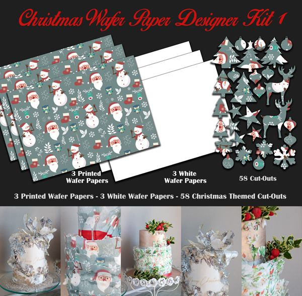 Crystal Candy Edible Wafer Collection - Christmas Wafer Paper Designer Kit 1