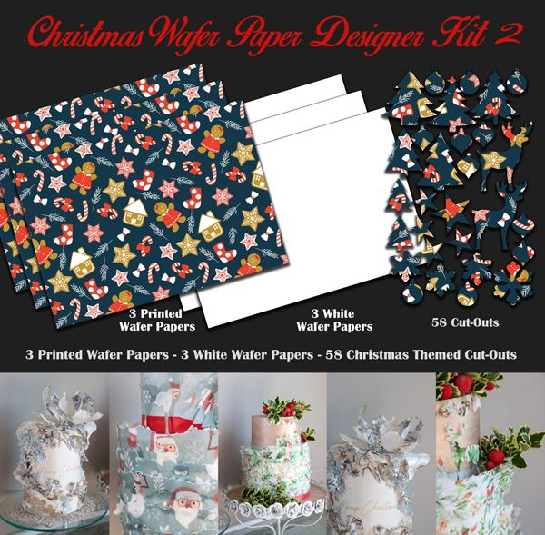 Crystal Candy Edible Wafer Collection - Christmas Wafer Paper Designer Kit 2