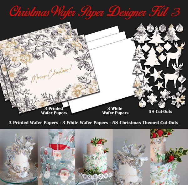 Crystal Candy Edible Wafer Collection - Christmas Wafer Paper Designer Kit 3