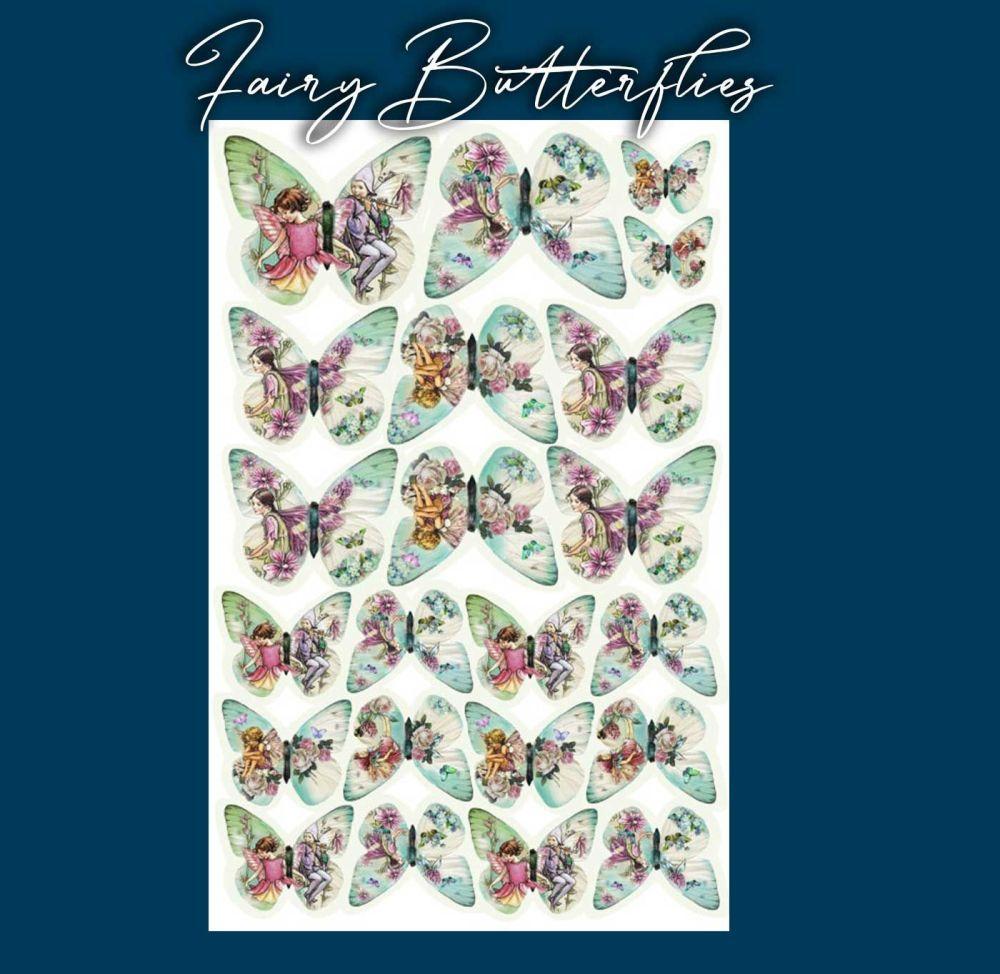 Crystal Candy Edible Wafer Butterflies -  Fairy Butterflies