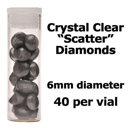 Crystal Candy Edible Isomalt Diamonds -  6mm. Silver