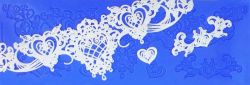 Crystal Candy Silicon Lace Moulds - Gold - Heart and Soul