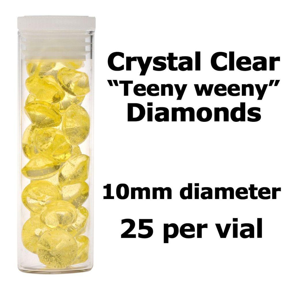 Crystal Candy Edible Isomalt Diamonds -  10mm. Yellow