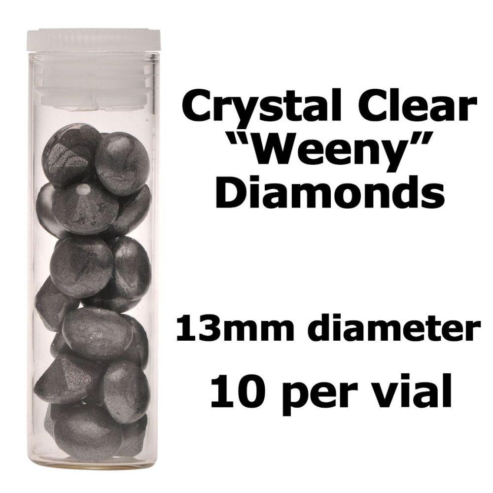 Crystal Candy Edible Isomalt Diamonds -  13mm. Grey