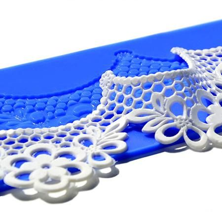 Crystal Candy Silicon Lace Mats - Platinum - Ariel