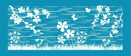 Crystal Candy Maxi Mesh Stencil -  Flower Fields